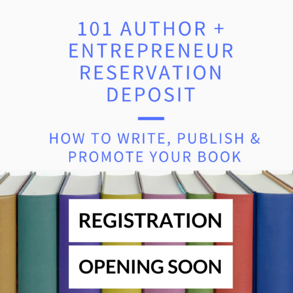 registration opening soon to learn how to write, publish and promote your book